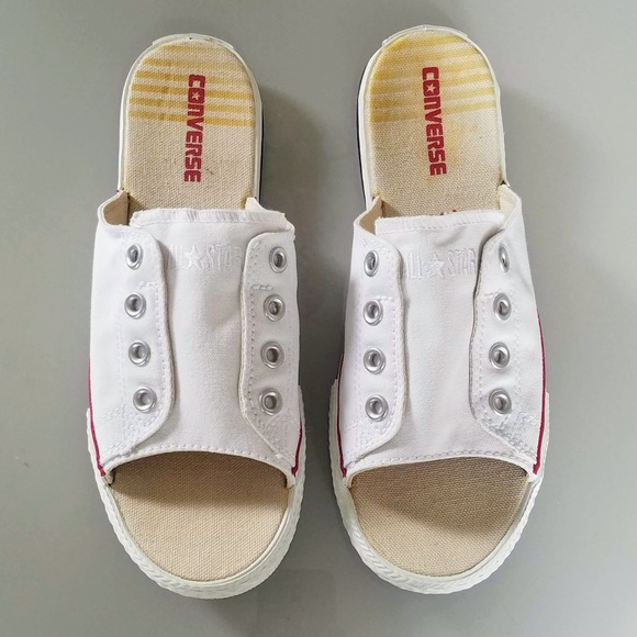 detailed look 0be35 a2622 Converse Shoes - Converse Chuck Taylor Cut Away White Sandals